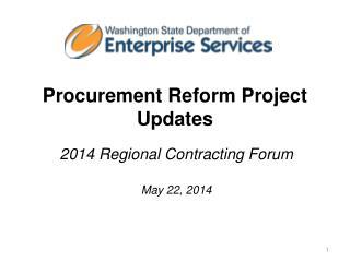 Procurement Reform Project Updates