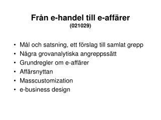 Från e-handel till e-affärer (021029)