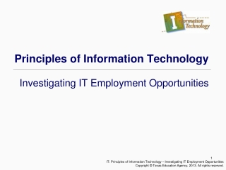 Principals of Information Technology