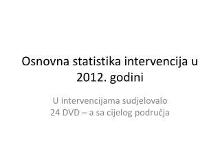 Osnovna statistika intervencija u 2012. godini