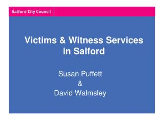 Victims & Witness Services in Salford
