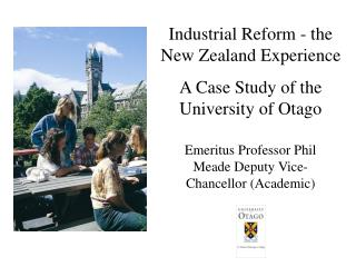 Industrial Reform - the New Zealand Experience