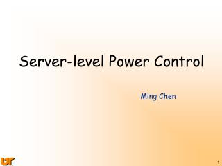 Server-level Power Control