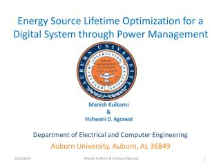 Energy Source Lifetime Optimization for a Digital System through Power Management