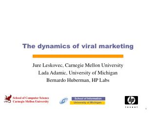 The dynamics of viral marketing