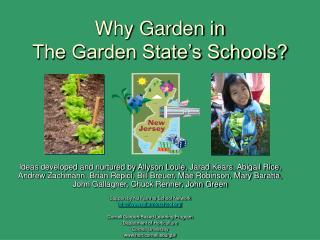Why Garden in  The Garden State's Schools?