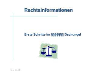 Rechtsinformationen