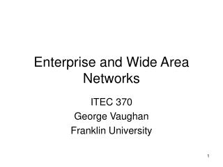 Enterprise and Wide Area Networks