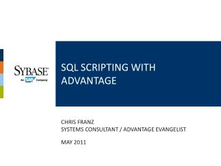 Sql scripting with Advantage