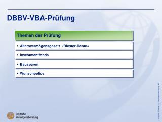 DBBV-VBA-Prüfung
