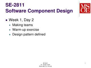 SE-2811 Software Component Design