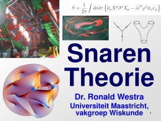 Snaren Theorie Dr. Ronald Westra Universiteit Maastricht, vakgroep Wiskunde