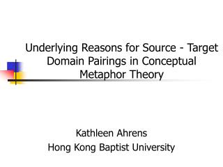 summary of a theory for metaphor Chapter summary this chapter introduces an interdisciplinary metaphor theory that incorporates elements of linguistic and literary theories to provide greater insight into the use of metaphor in biblical texts and, for the purposes of this study, in the fourth gospel specifically.