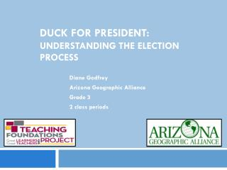 DUCK FOR PRESIDENT:   Understanding the Election Process
