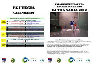 Txapelketaren aurkezpena /  Presentación del torneo