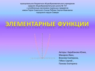 Элементарные функции