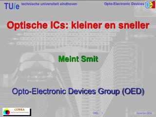 Optische ICs: kleiner en sneller