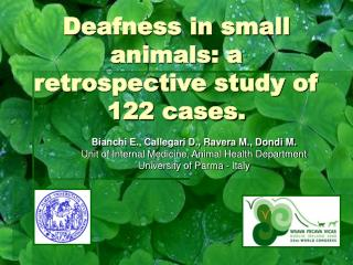 Deafness in small animals: a retrospective study of 122 cases.