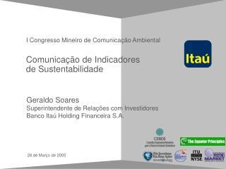 Comunicação de Indicadores de Sustentabilidade