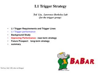 L1 Trigger Strategy