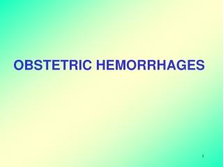 Antepartum haemorrhage APH