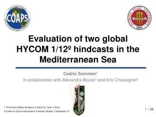 Evaluation of two global HYCOM 1/12º hindcasts in the Mediterranean Sea