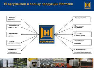 10  аргументов в пользу продукции  Hörmann