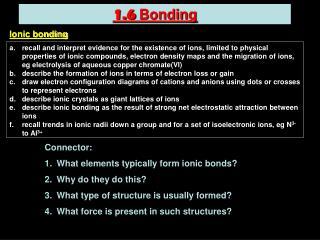1.6  Bonding