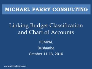 Linking Budget Classification and Chart of Accounts