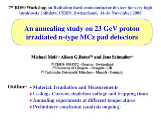 An annealing study on 23 GeV proton  irradiated n-type MCz pad detectors