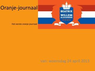 Oranje-journaal