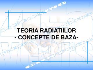 TEORIA RADIATIILOR - CONCEPTE DE BAZA-