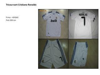 Tricou+sort Cristiano Ronaldo