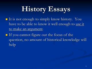 History Essays
