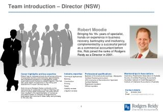 Team introduction  � Director (NSW)