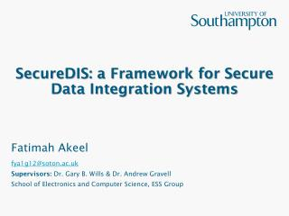 SecureDIS: a Framework for Secure Data Integration Systems