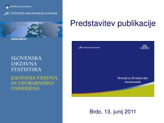 Predstavitev publikacije