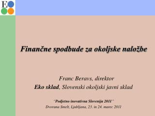 Finančne spodbude za okoljske naložbe