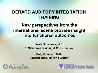 BÉRARD AUDITORY INTEGRATION TRAINING