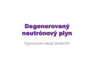 Degenerovan ý neutrónový plyn