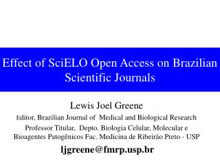 Effect of SciELO Open Access on Brazilian Scientific Journals