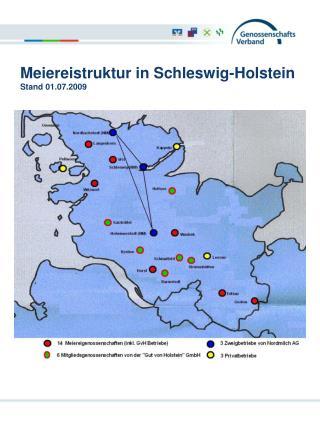 Meiereistruktur in Schleswig-Holstein Stand 01.07.2009