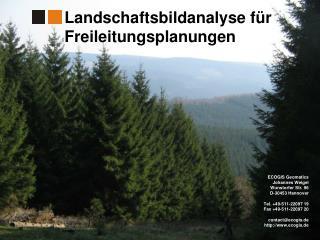 ECOGIS Geomatics Johannes Weigel Wunstorfer Str. 96 D-30453 Hannover  Tel. 49-511-22097 19 Fax 49-511-22097 20  contacte