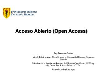 Acceso Abierto (Open Access)