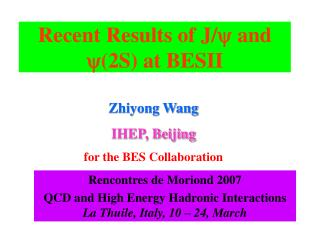 Recent Results of J/  and (2S)  at BESII