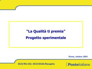 DCO/RU-OO; DCO/DOAI-Recapito