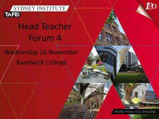 Head Teacher Forum 4