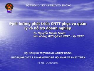 Ts. Nguyễn Thanh Tuyên Văn phòng BCĐ QG về CNTT - Vụ CNTT
