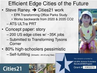 Efficient Edge Cities of the Future
