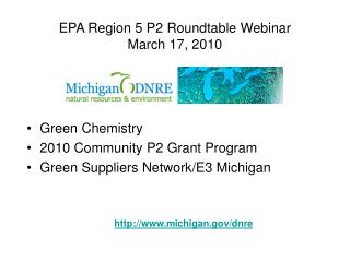 EPA Region 5 P2 Roundtable Webinar March 17, 2010